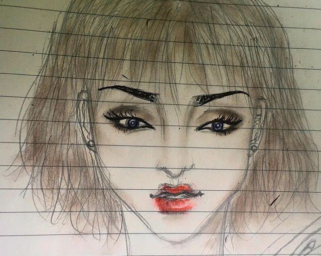 BEAUTY – ART – COSMETICS – Drawing Inspired by Cool EyeShadow