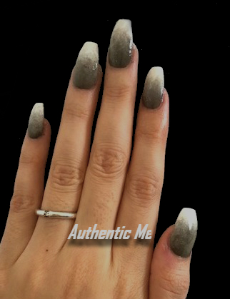 BEAUTY NAILS – Self Nail Art of The Week 5 – Gray Marble Mood with Ombre GradientDesign